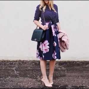 {Chicwish} Floral Midi Skirt